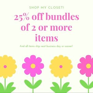 25% off all bundles of 2 or more items!